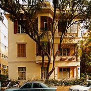 Israel Tel Aviv Old Bauhaus style building at 10 Bialik street Tel Aviv