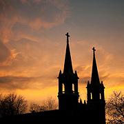 St. Aloysius Church at sunset