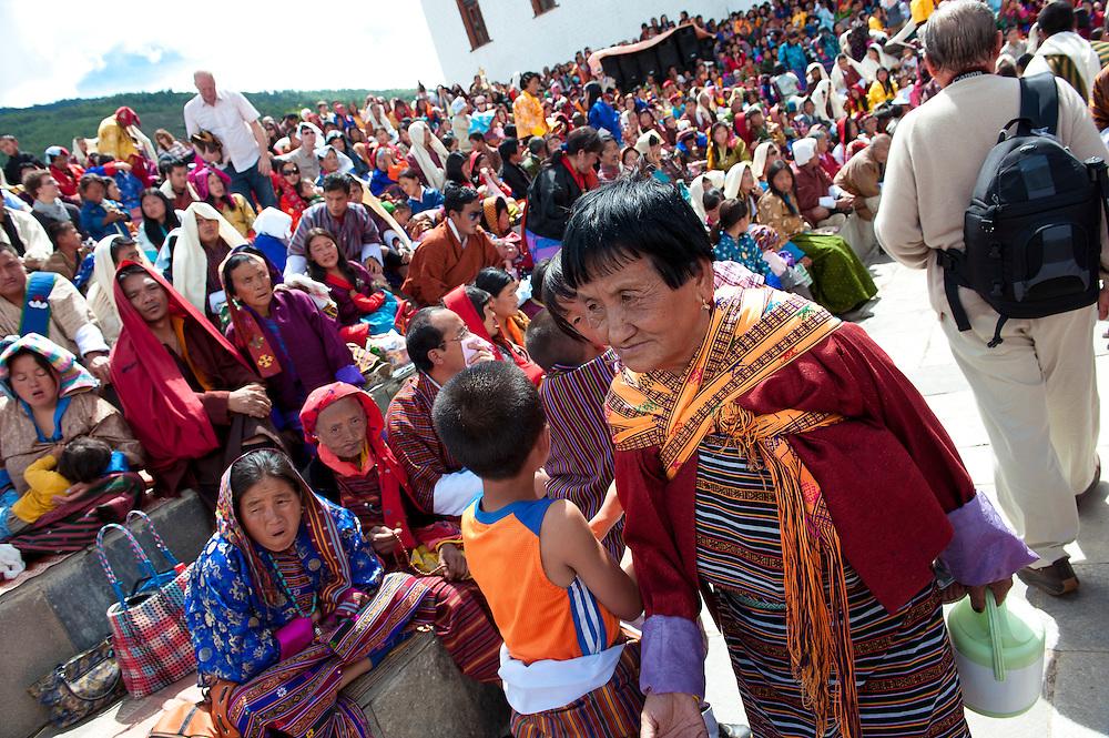 Asia, Bhutan, Cham, old, Thimpu, Tibet, Tsechu, woman