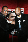 "l to r: Phil Pabon and Londell McMillan at The Russell Simmons and Spike Lee  co-hosted ""I AM C.H.A.N.G.E!"" Get out the Vote Party presented by The Source Magazine and The HipHop Summit Action Network held at Home on October 30, 2008 in New York City"