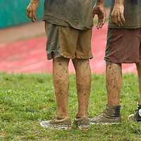 Jodi Miller.The rain didn't stop kids from sliding down the hill in the League World Series complex Monday. All of Monday's games were postponed due to the weather.
