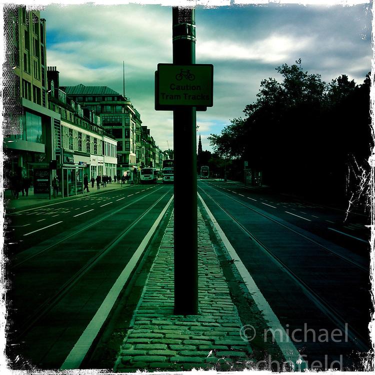 Princes Street, Edinburgh..Hipstamatic images taken on an Apple iPhone..©Michael Schofield.