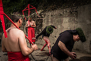 The ritual of the Battenti in Nocera Terinese in the holy Saturday