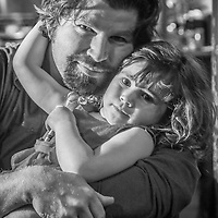 Rich Haynie and his daughter, Juliette, at Boskos, Calistoga, California