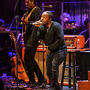 WASHINGTON, DC - October 20th, 2015 - Kendrick Lamar performs with the National Symphony Orchestra at the Kennedy Center in Washington, D.C. (Photo by Kyle Gustafson / For The Washington Post)
