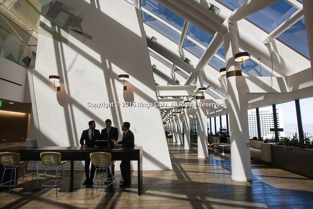 CBRE headquarters, 400 S. Hope Street, Los Angeles. (Photo by Ringo Chiu/PHOTOFORMULA.com)