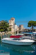 Scallger Castle, medieval, Sirmione on Lake Garda, Gardasee, Brescia, Lombardy, Italy