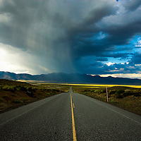 A late afternoon thunderstorm, Owens Valley near Mammoth Lakes,  CA.