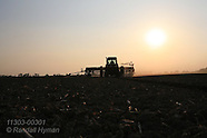 03: FARMS PLANTING SOYBEANS AT SUNSET