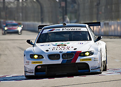 LONG BEACH, CA - APR 15: American Le Mans Driver Dirk Muller/Joey Hand of the BMW Team RLL drive car#56 during practice run. Photo by Eduardo E. Silva