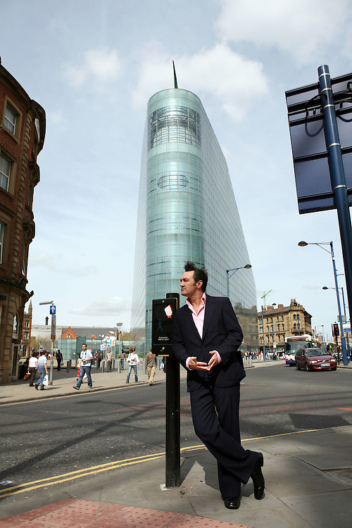 Paul posing as Morrissey, Manchester, April 2007