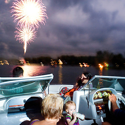 Fireworks over Donnell Lake