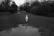 Ben dressed as a storm trooper heads back from an Easter egg hunt in Northchurch in England Saturday, April 4, 2015 (Elizabeth Dalziel) #thesecretlifeofmothers #bringinguptheboys #dailylife