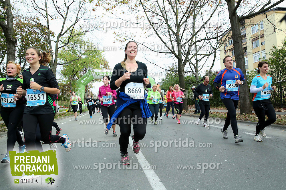 Runners compete during 19th Ljubljana Marathon 2014 on October 25, 2014 in Ljubljana EXPO, Slovenia. Photo by Vid Ponikvar / Sportida.com