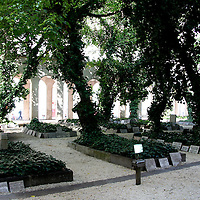 The Jewish Cemetery is located in the back yard of the Heroes' Temple, enclosed by the Jewish Museum and the Dohany synagogue, Budapest, Hungary