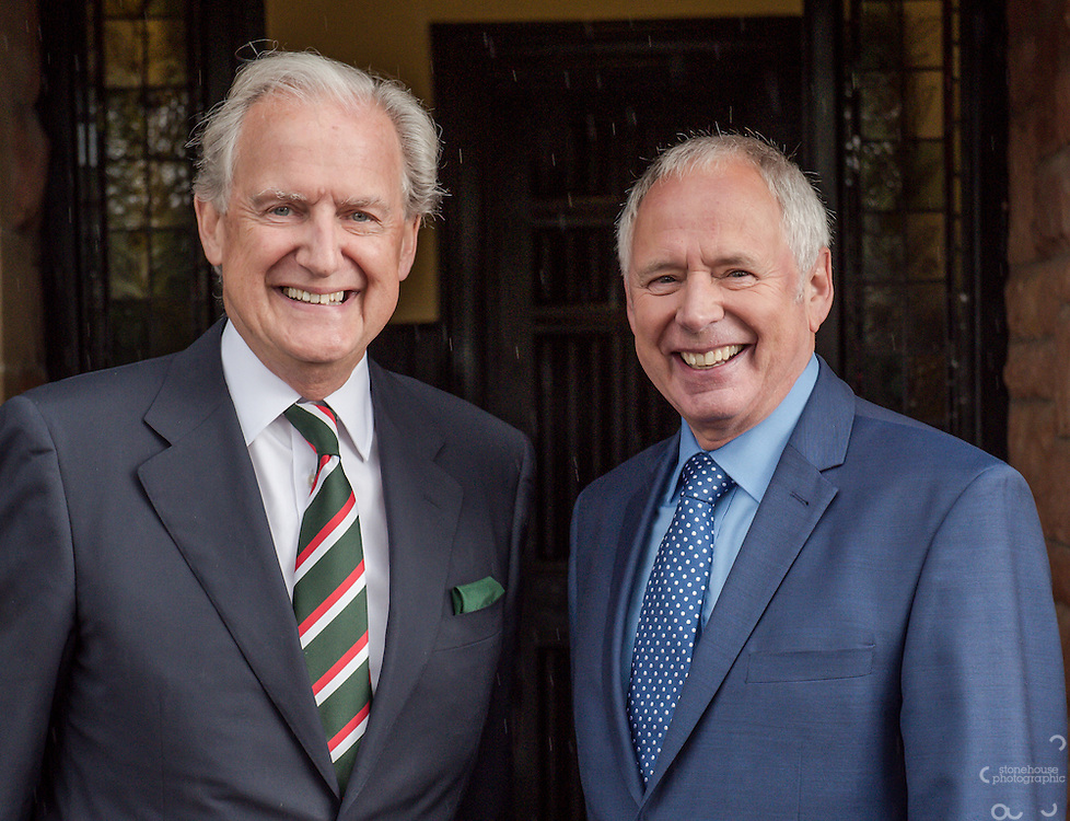 BBC &amp; ITV Midlands News Anchor men Nick Owen &amp; Bob Warman are re-united at Shrewsbury High Prep School 60 years after they both studied there together.<br /> <br /> The two former pupils meet outside the main door of the school.