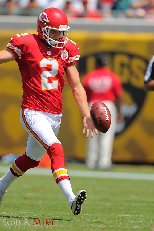 Kansas City Chiefs punter Dustin Colquitt (2) during the Chiefs 28-2 win over the Jacksonville Jaguars at EverBank Field on Sept. 8, 2013 in Jacksonville, Florida. The <br /> <br /> &copy;2013 Scott A. Miller