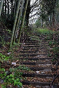 Unused stairs.<br /> Atami is a resort town in the eastern end of Shizuoka prefecture.