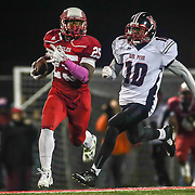 Smyrna running back William Knight (25) scores a 89-yard touchdown during a DIAA semi finals football game between No. 2 Smyrna and No. 3 William Penn Saturday, Nov. 26, 2016 at Charles V. Williams Stadium in Smyrna.