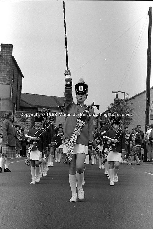 Jazz Band. 1983 Yorkshire Miner's Gala. Barnsley