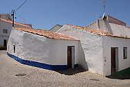 Aspect of the village of Odeceixe;Algarve. The village's traditional white houses.