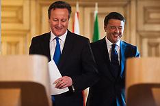 Italian PM Matteo Renzi visits London