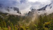Clearing storm over Yosemite Valley, Yosemite National Park, California