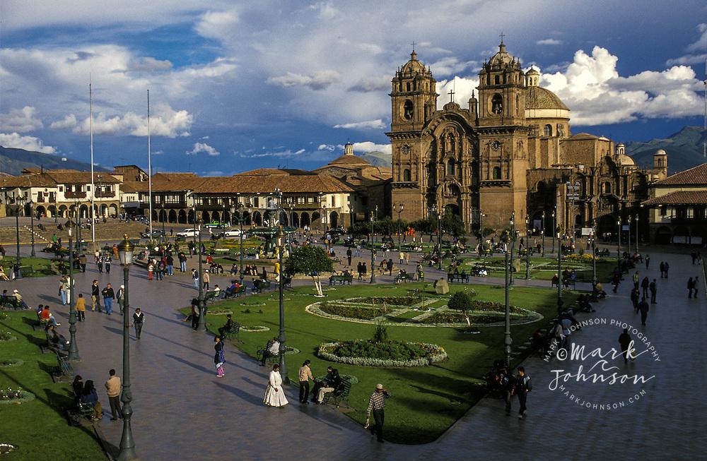 South America, Peru, Cusco, Plaza de Armas