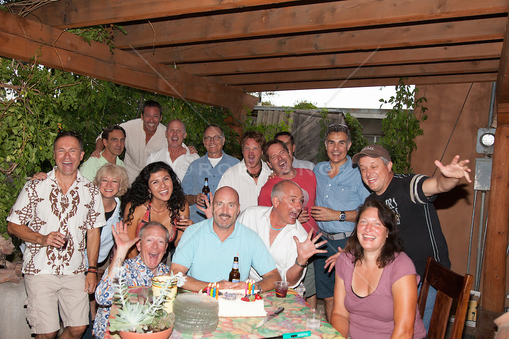group of friends at a birthday gathering