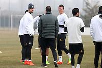 Vinovo 21.02.2017 - Allenamento di vigilia di Porto-Juventus - Champions League 2016-17 - Nella foto:  Massimiliano Allegri  durante l'allenamento