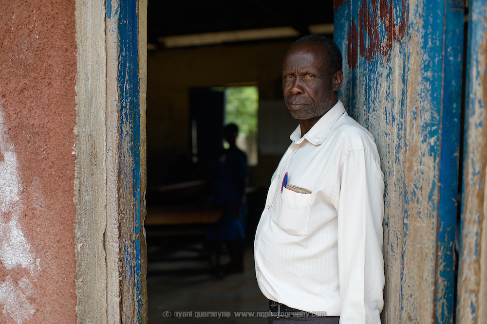 Jacobean Opedun, a teacher at Aputiri Primary School in Eastern Uganda on 31 July 2014.