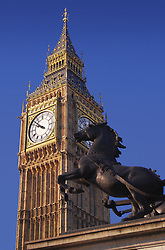 Big Ben in London England on a clear day