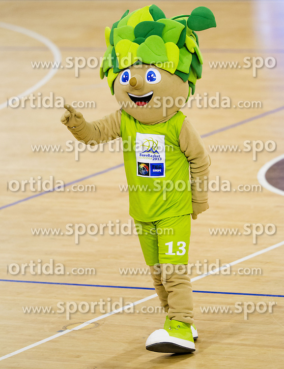 Lipko, official mascot of Eurobasket 2013 during basketball match between KK Union Olimpija and KK Krka in 10th Round of Telemach League 2012/2013, on April 30, 2013, in Hala Tivoli, Ljubljana, Slovenia. (Photo By Vid Ponikvar / Sportida.com)