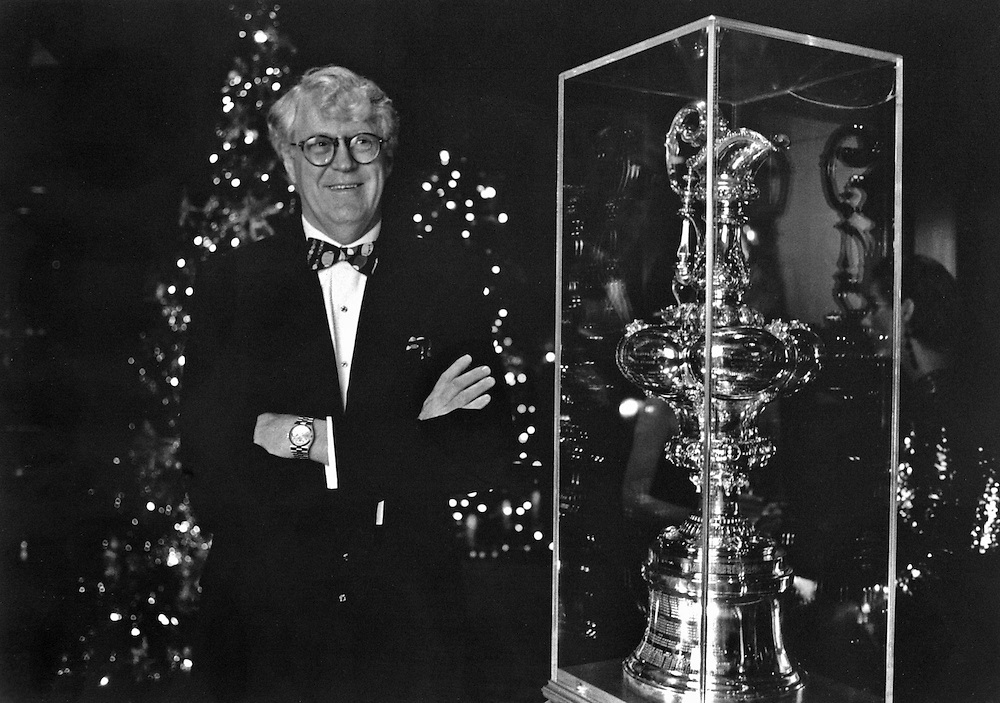 William Koch with the America's Cup