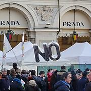 No al referendum manifestazione Movimento 5 Stelle