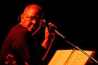 Cuban singer Pablo Milanes performers at Karl Marx theatre in Havana, Cuba on August 27, 2004. (Photo/Cristobal Herrera)