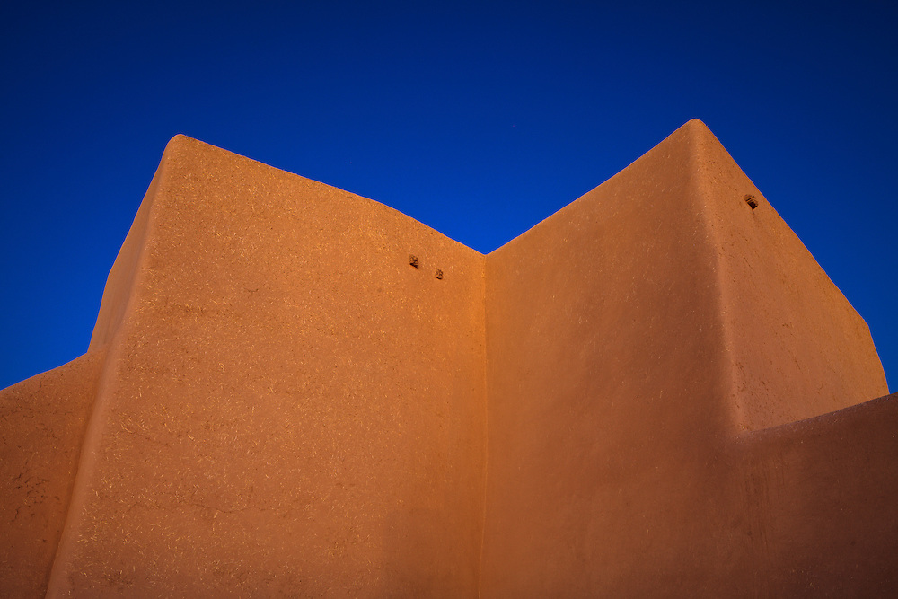The back of Saint Francis de Asis Church in Ranchos de Taos, New Mexico.