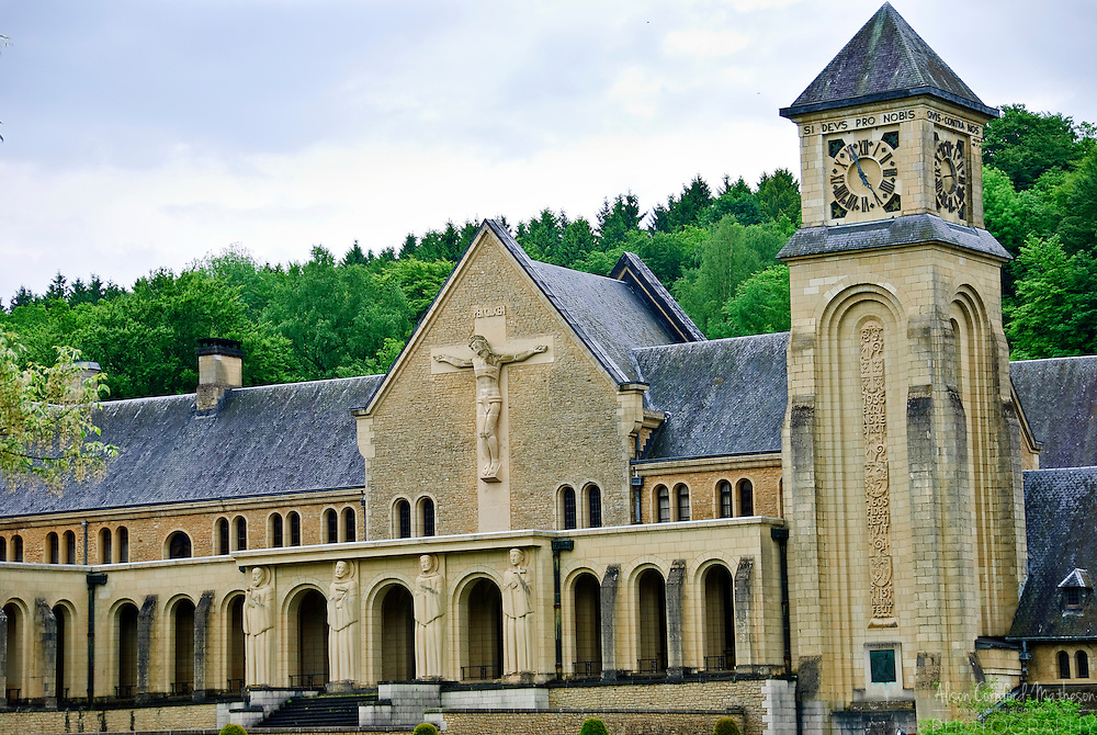 Orval Abbey, Florenville, Belgium is a Cistercian monastery famous for Trappist beer and cheese.