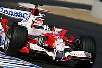 Ricardo Zonta, 2006 Toyota Panasonic Formula One Team,<br /> Laguna Seca, Monterey, CA.<br /> Sets new track record in demonstration runs at Monterey Historics.