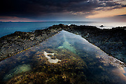 International Color Awards 2016 - Nominee in &quot;Nature&quot; category<br /> <br /> Large rockpools in the reef at Rhosneigr at sunset, West Anglesey, Wales.