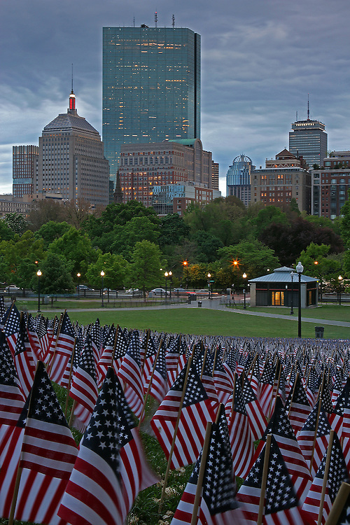 Boston photography from New England based fine art photographer Juergen Roth showing the Garden of American Flags in the Boston Common on Memorial Day 2014. The Military Heroes Garden of American flags in Boston Common displays nearly 37000 American flags, each flag represents the lost life of a fallen service member from Massachusetts since the Revolutionary War (1775 to 1783) to the present in 2014. Visitors are reminded of the essence of the Memorial Day holiday through this deeply moving site.<br /> <br /> This Boston photography image of the Public Common and the Garden of American Flags is available as museum quality photography prints, canvas prints, acrylic prints or metal prints. Prints may be framed and matted to the individual liking and wall decoration needs: <br /> <br /> http://juergen-roth.artistwebsites.com/featured/memorial-day-juergen-roth.html<br /> <br /> Good light and happy photo making!<br /> <br /> My best,<br /> <br /> Juergen<br /> http://www.exploringthelight.com<br /> http://www.rothgalleries.com<br /> @NatureFineArt<br /> http://whereintheworldisjuergen.blogspot.com/<br /> https://www.facebook.com/naturefineart