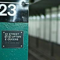 23rs street stop in Manhattan.