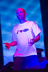 American singer Moby on stage at T in the Park, 8th July 2000..Pic ©2010 Michael Schofield. All Rights Reserved.