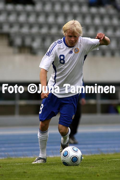 09.06.2009, Stadion, Lahti..U-20 (1988 syntyneet) maaottelu Suomi - Ruotsi.Toni Kolehmainen - Suomi.©Juha Tamminen.