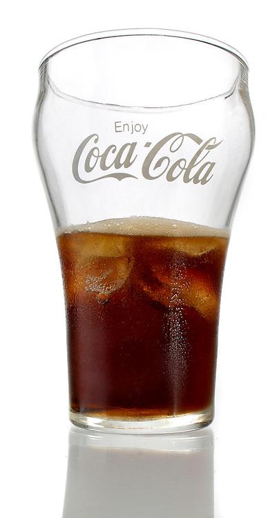 coca-cola half full glass