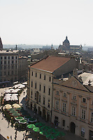 View over Krakow from the Clock Tower in Krakow Poland