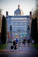 Paleis Huis ten Bosch staat in de steigers wegens een verbouwing