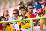 SAN JUAN, PUERTO RICO FEBRUARY 3: A youth baseball team from Puerto Rico come out to watch the game between the Dominican Republic and Cuba on February 3, 2015 in San Juan, Puerto Rico at Hiram Bithorn Stadium(Photo by Jean Fruth)