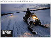 Top Destinations for Snowmobiles<br /> Cond&eacute; Nast Traveler Spain<br /> Image from Rovaniemi, Finland