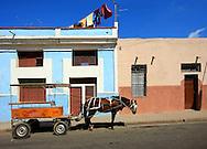 Horse and wagon in Cienfuegos, Cienfuegos Province, Cuba.